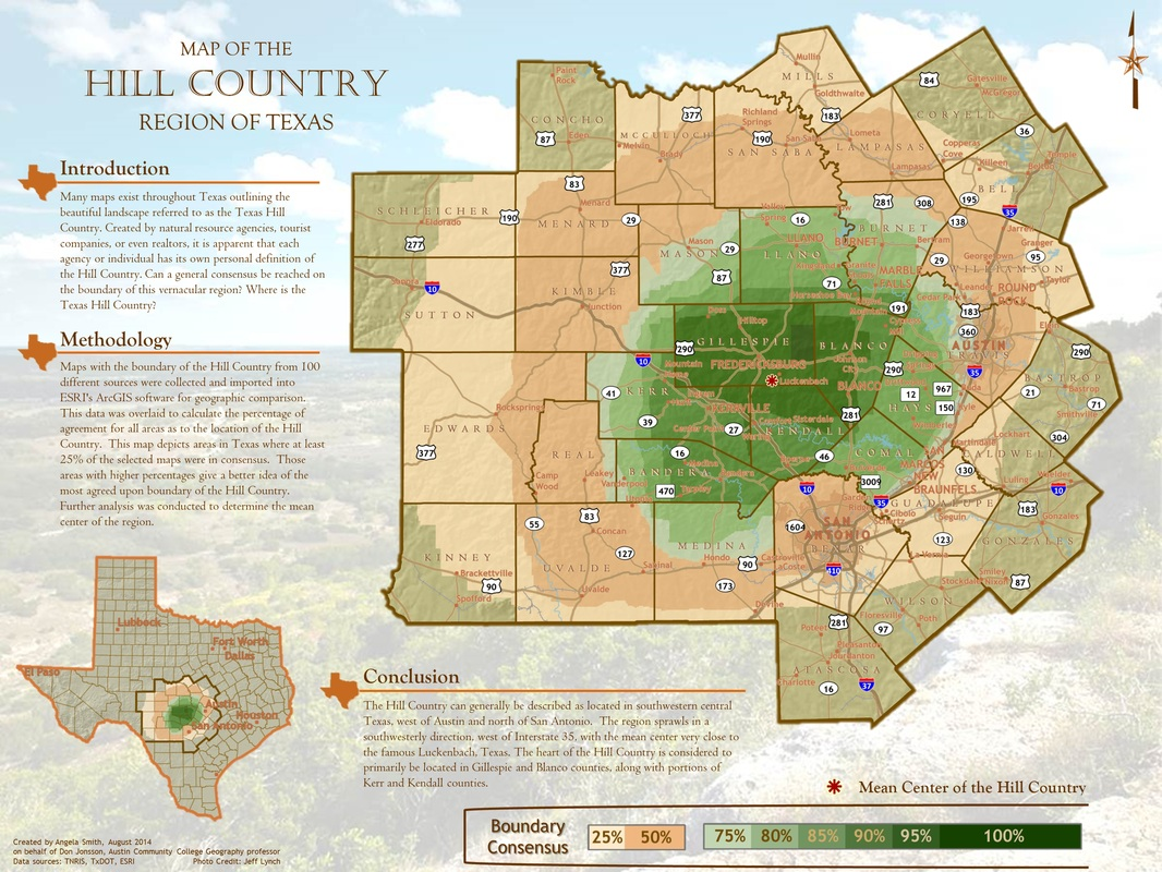 Texas Hill Country - ACS Map Portfolio